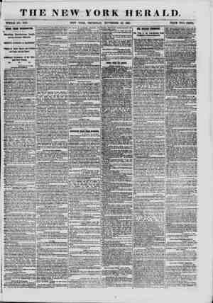 THE NEW YORK HERALD. WHOLE NO. 9210. NEW YORK, THURSDAY, NOVEMBER 28, 1861. PRICE TWO CENTS. NEWS FROM WASHINGTON. Startling