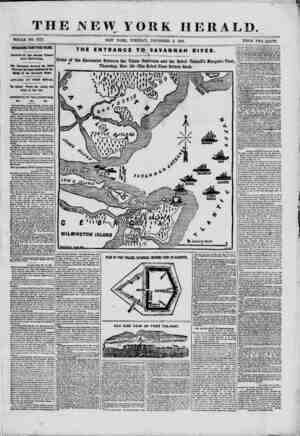 THE NEW YO 4tA~ WHOLE NO. 9215. NEW YORK, TUESDAY, \L HERALD. DECEMBER 3, 1861. PRICE TWO CENTS. BSTERESTDf G FROM TYBEE...