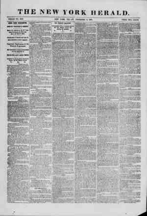 THE NEW YORK HERALD. WHOLE NO. 9218. NEW YORK, FRI.jAY, P/ECEMBER 6, 1861. PRICE TWO CENTS. NEWS FROM WASHINGTON. IMPORTANT