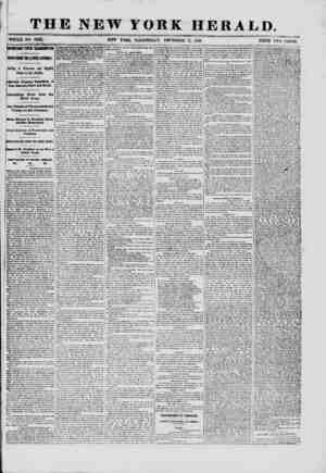 THE NEW YORK HERALD. WHOLE NO. 9223.. NEW YORK, WEDNESDAY, DECEMBER 11, 1861. PRICE TWO CENTS. ^ jr ^ IMPORTANT FROM...