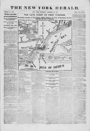THE NEW YORK HERALD Thole no. 9224. new york, Thursday, December 12, isci. price two cents. THE FIGHT AT FORT PICKENS. THE