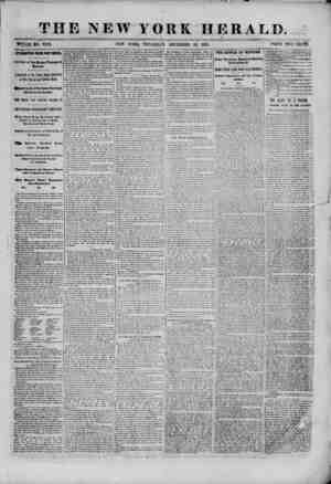 THE NEW YORK HERALD. WHOLE NO. 9233. NEW YORK, THURSDAY, DECEMBER 26, 1861. PRICE TWO CENTS. INTERESTING FROM PORT ROYAL...