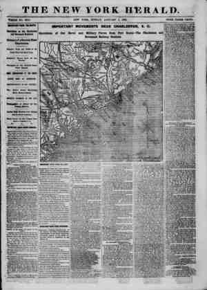 """TH """"WHOLE NO. 9247. HHTMTANT fROM THE SOUTH. Operations on the Charleston and Savannah Railroad. Seizure of a Station Near"""