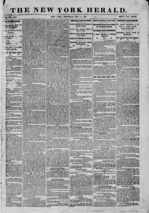 THE NEW ...J YORK HERALD. YORK, THURSDAY, MAY 1, 1862. / ? - - PRICE TWO CENTS. All W NEW ORLEANS. ting Details from the ebel