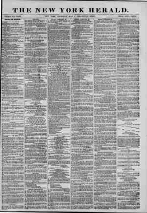 THE NEW YORK HERALD. WHOLE NO. 13,409. NEW YORK, THURSDAY, MAY 8, 1873.-TR1PLE SHEET. PRICE FOCR CENTS. DIRECTORY FOR...
