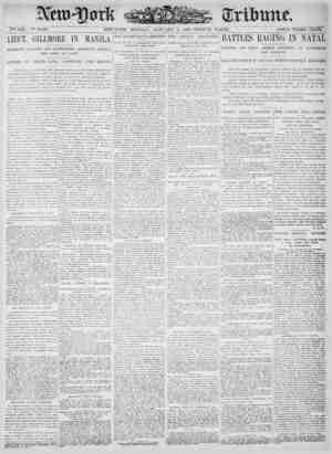 New York Tribune Gazetesi 8 Ocak 1900 kapağı