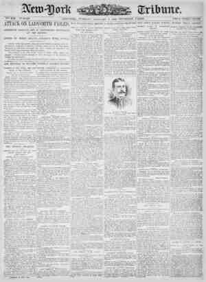 New York Tribune Gazetesi 9 Ocak 1900 kapağı
