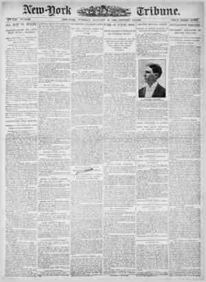 New York Tribune Gazetesi 16 Ocak 1900 kapağı