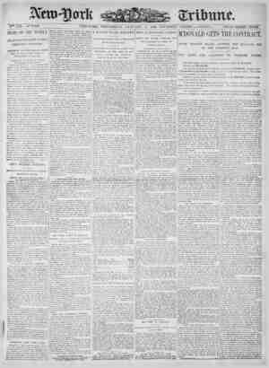 New York Tribune Gazetesi 17 Ocak 1900 kapağı