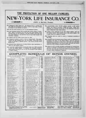THE PROTECTION OF ONE MILLION FAMILIES. New-York life insurance Co. =1845= This Company is Sixty Years old. The Sixtieth...