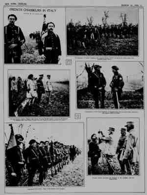 FRENCH CHASSEURS IN ITALY ^^ Photooraph. ,0, French Pictorin, 8eruct General Fayolle. General Maistre and General Herring...