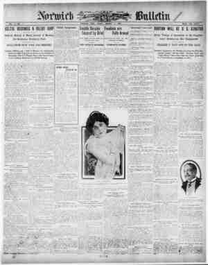 Norwich Bulletin Gazetesi 1 Ocak 1909 kapağı