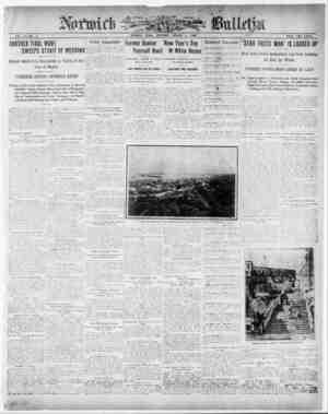 Norwich Bulletin Gazetesi 2 Ocak 1909 kapağı