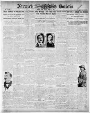 Norwich Bulletin Gazetesi 5 Ocak 1909 kapağı