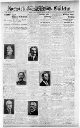 Norwich Bulletin Gazetesi 7 Ocak 1909 kapağı