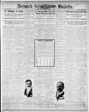 Norwich Bulletin Gazetesi 9 Ocak 1909 kapağı