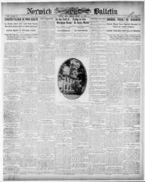 Norwich Bulletin Gazetesi 11 Ocak 1909 kapağı