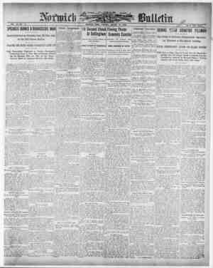 Norwich Bulletin Gazetesi 12 Ocak 1909 kapağı