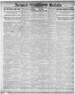 Norwich Bulletin Gazetesi 14 Ocak 1909 kapağı