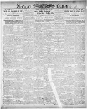 Norwich Bulletin Gazetesi 15 Ocak 1909 kapağı