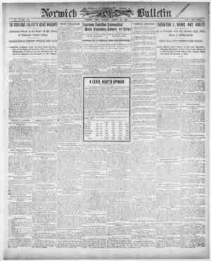 Norwich Bulletin Gazetesi 16 Ocak 1909 kapağı