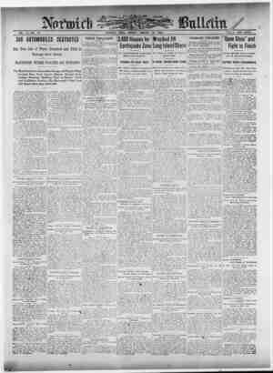 Norwich Bulletin Gazetesi 18 Ocak 1909 kapağı