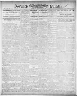 Norwich Bulletin Gazetesi 19 Ocak 1909 kapağı