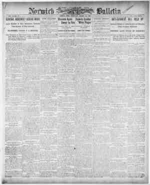 Norwich Bulletin Gazetesi 20 Ocak 1909 kapağı