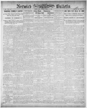 Norwich Bulletin Gazetesi 21 Ocak 1909 kapağı