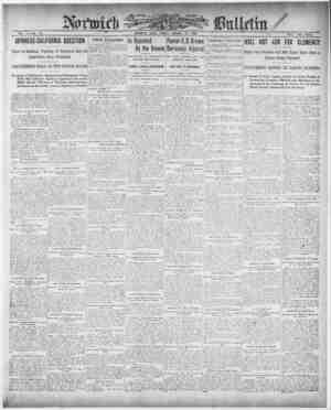 Norwich Bulletin Gazetesi 22 Ocak 1909 kapağı