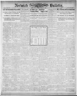 Norwich Bulletin Gazetesi 23 Ocak 1909 kapağı