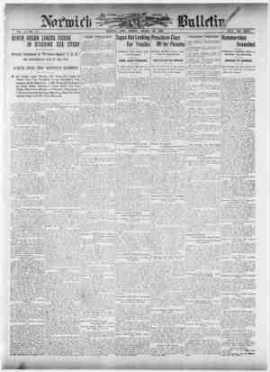Norwich Bulletin Gazetesi 25 Ocak 1909 kapağı