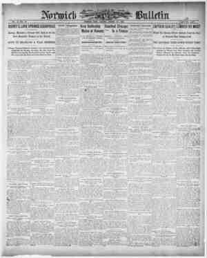 Norwich Bulletin Gazetesi 26 Ocak 1909 kapağı