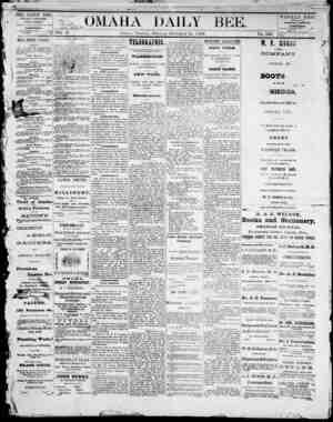 Omaha Daily Bee Gazetesi 31 Aralık 1872 kapağı