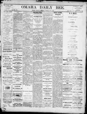 Omaha Daily Bee Gazetesi 21 Ocak 1873 kapağı