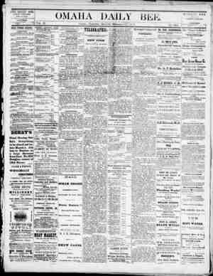 Omaha Daily Bee Gazetesi 27 Şubat 1873 kapağı