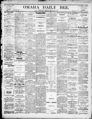 Omaha Daily Bee Gazetesi 19 Mart 1873 kapağı