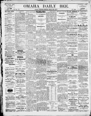 Omaha Daily Bee Gazetesi 20 Mart 1873 kapağı