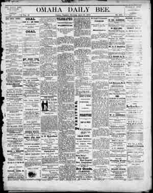 Omaha Daily Bee Gazetesi 15 Nisan 1873 kapağı