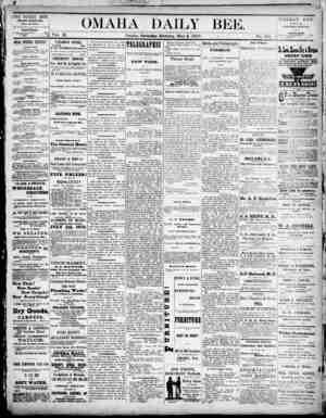 Omaha Daily Bee Gazetesi 3 Mayıs 1873 kapağı