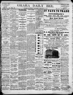 Omaha Daily Bee Gazetesi 3 Ocak 1874 kapağı