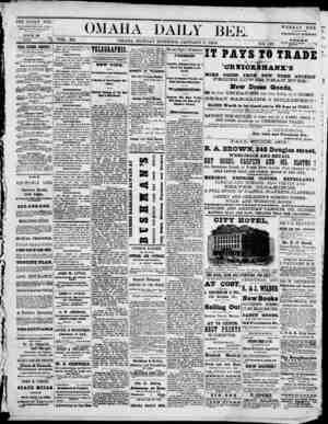 Omaha Daily Bee Gazetesi 5 Ocak 1874 kapağı