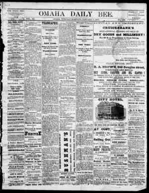 Omaha Daily Bee Gazetesi 6 Ocak 1874 kapağı