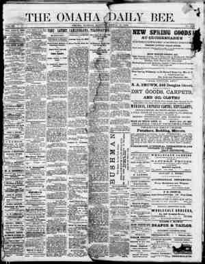 Omaha Daily Bee Gazetesi 30 Mart 1874 kapağı