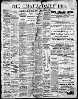 Omaha Daily Bee Gazetesi 1 Nisan 1874 kapağı