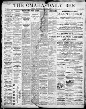 Omaha Daily Bee Gazetesi 15 Nisan 1874 kapağı
