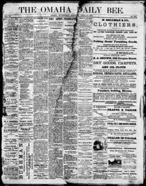 Omaha Daily Bee Gazetesi 29 Nisan 1874 kapağı