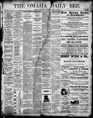 Omaha Daily Bee Gazetesi 30 Nisan 1874 kapağı