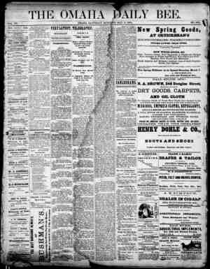 Omaha Daily Bee Gazetesi 2 Mayıs 1874 kapağı