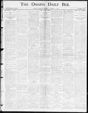 r OMAHA DAILY BEE , NINETEENTH YEAH. OMAHA , FKIDAY MOUSING , APRIL U , 1800. NUMBER 201. THE RETURN OF STANLEY , Bife...